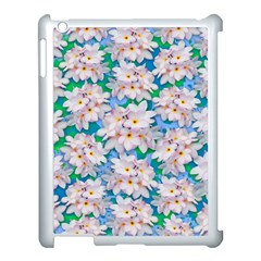 Plumeria Bouquet Exotic Summer Pattern  Apple Ipad 3/4 Case (white) by BluedarkArt