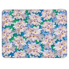 Plumeria Bouquet Exotic Summer Pattern  Samsung Galaxy Tab 7  P1000 Flip Case by BluedarkArt
