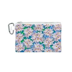 Plumeria Bouquet Exotic Summer Pattern  Canvas Cosmetic Bag (s) by BluedarkArt