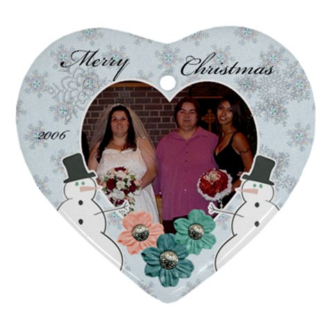 Myfamily By Colleen Pike   Ornament (heart)   Mo459gtw4vi1   Www Artscow Com Front