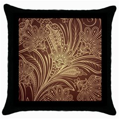 Beautiful Patterns Vector Throw Pillow Case (Black) by Amaryn4rt