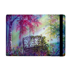 Bench In Spring Forest Apple Ipad Mini Flip Case by Amaryn4rt