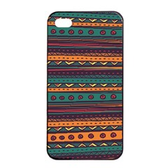 Ethnic Style Tribal Patterns Graphics Vector Apple Iphone 4/4s Seamless Case (black) by Amaryn4rt