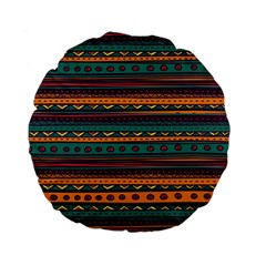 Ethnic Style Tribal Patterns Graphics Vector Standard 15  Premium Flano Round Cushions by Amaryn4rt