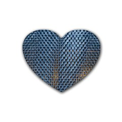 Parametric Wall Pattern Rubber Coaster (heart)  by Amaryn4rt
