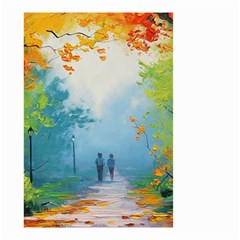 Park Nature Painting Small Garden Flag (Two Sides)