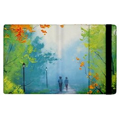 Park Nature Painting Apple Ipad 2 Flip Case by Amaryn4rt