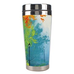 Park Nature Painting Stainless Steel Travel Tumblers by Amaryn4rt