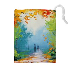 Park Nature Painting Drawstring Pouches (extra Large) by Amaryn4rt