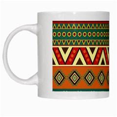 Mexican Folk Art Patterns White Mugs by Amaryn4rt