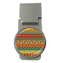Mexican Folk Art Patterns Money Clips (round)  by Amaryn4rt