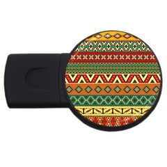 Mexican Folk Art Patterns Usb Flash Drive Round (2 Gb) by Amaryn4rt