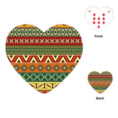 Mexican Folk Art Patterns Playing Cards (heart)  by Amaryn4rt