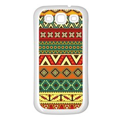Mexican Folk Art Patterns Samsung Galaxy S3 Back Case (white) by Amaryn4rt