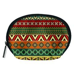 Mexican Folk Art Patterns Accessory Pouches (medium)  by Amaryn4rt
