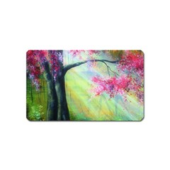 Forests Stunning Glimmer Paintings Sunlight Blooms Plants Love Seasons Traditional Art Flowers Sunsh Magnet (name Card) by Amaryn4rt