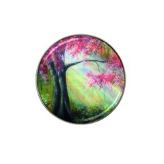 Forests Stunning Glimmer Paintings Sunlight Blooms Plants Love Seasons Traditional Art Flowers Sunsh Hat Clip Ball Marker (4 Pack)