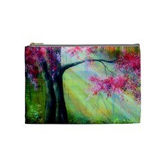 Forests Stunning Glimmer Paintings Sunlight Blooms Plants Love Seasons Traditional Art Flowers Sunsh Cosmetic Bag (medium)  by Amaryn4rt