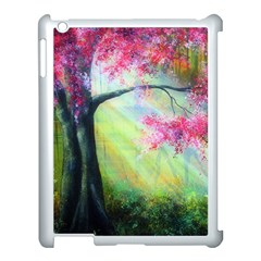 Forests Stunning Glimmer Paintings Sunlight Blooms Plants Love Seasons Traditional Art Flowers Sunsh Apple Ipad 3/4 Case (white) by Amaryn4rt
