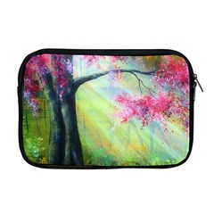 Forests Stunning Glimmer Paintings Sunlight Blooms Plants Love Seasons Traditional Art Flowers Sunsh Apple Macbook Pro 17  Zipper Case by Amaryn4rt