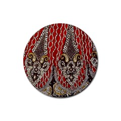 Indian Traditional Art Pattern Rubber Round Coaster (4 Pack)  by Amaryn4rt