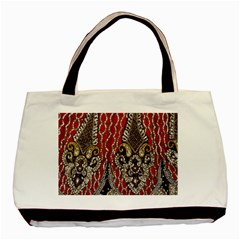 Indian Traditional Art Pattern Basic Tote Bag (two Sides) by Amaryn4rt