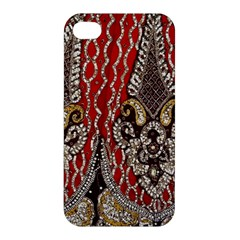 Indian Traditional Art Pattern Apple Iphone 4/4s Premium Hardshell Case by Amaryn4rt
