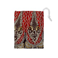 Indian Traditional Art Pattern Drawstring Pouches (medium)  by Amaryn4rt