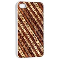 Udan Liris Batik Pattern Apple Iphone 4/4s Seamless Case (white)