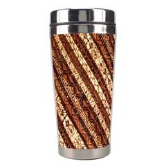 Udan Liris Batik Pattern Stainless Steel Travel Tumblers by Amaryn4rt