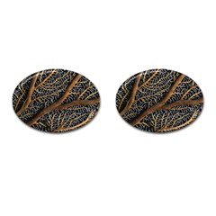 Trees Forests Pattern Cufflinks (oval) by Amaryn4rt