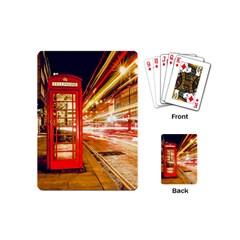 Telephone Box London Night Playing Cards (mini)