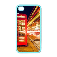 Telephone Box London Night Apple Iphone 4 Case (color)