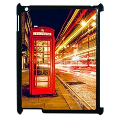 Telephone Box London Night Apple Ipad 2 Case (black) by Amaryn4rt