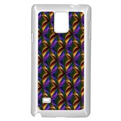 Seamless Prismatic Line Art Pattern Samsung Galaxy Note 4 Case (white) by Amaryn4rt