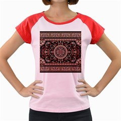 Vectorized Traditional Rug Style Of Traditional Patterns Women s Cap Sleeve T Shirt by Amaryn4rt