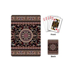 Vectorized Traditional Rug Style Of Traditional Patterns Playing Cards (mini)  by Amaryn4rt