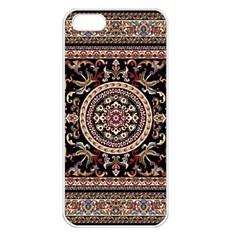 Vectorized Traditional Rug Style Of Traditional Patterns Apple Iphone 5 Seamless Case (white) by Amaryn4rt
