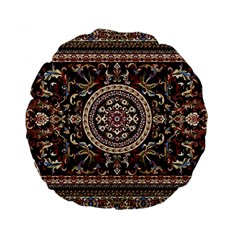 Vectorized Traditional Rug Style Of Traditional Patterns Standard 15  Premium Round Cushions by Amaryn4rt