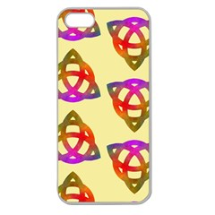 Celtic Knot Pastel Large Apple Seamless Iphone 5 Case (clear) by CannyMittsDesigns