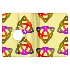 Celtic Knot Pastel Large Kindle Fire HDX Flip 360 Case by CannyMittsDesigns