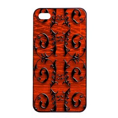 3d Metal Pattern On Wood Apple Iphone 4/4s Seamless Case (black) by Amaryn4rt
