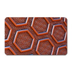 3d Abstract Patterns Hexagons Honeycomb Magnet (rectangular) by Amaryn4rt