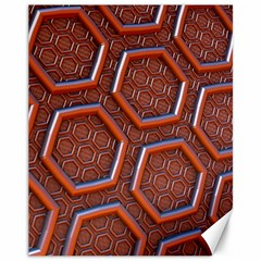 3d Abstract Patterns Hexagons Honeycomb Canvas 11  X 14   by Amaryn4rt