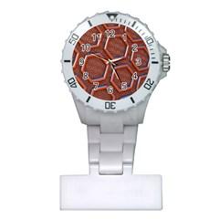 3d Abstract Patterns Hexagons Honeycomb Plastic Nurses Watch