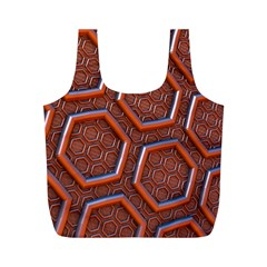 3d Abstract Patterns Hexagons Honeycomb Full Print Recycle Bags (m)  by Amaryn4rt