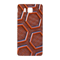 3d Abstract Patterns Hexagons Honeycomb Samsung Galaxy Alpha Hardshell Back Case by Amaryn4rt