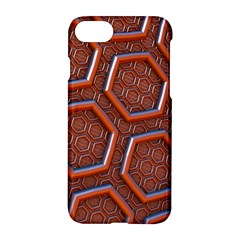 3d Abstract Patterns Hexagons Honeycomb Apple iPhone 7 Hardshell Case by Amaryn4rt