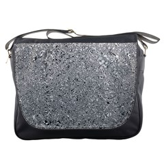 Abstract Flowing And Moving Liquid Metal Messenger Bags