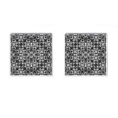 Modern Oriental Pattern Cufflinks (square) by dflcprints